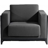 FCC Series Sean Dix Wooden Frame Armchair leather