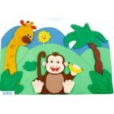"Nursery Series Επένδυση με θέμα ""ζούγκλα""."