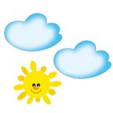 Nursery Series Τρία στοιχεία : 2 Σύννεφα 450 x 680 χιλ. / Ηλιος 535 x 490 χιλ.