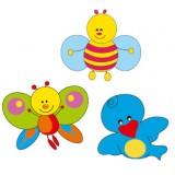 Nursery Series Τρία στοιχεία : Πεταλούδα 600 x 480 χιλ. / Μέλισσα 545 x 485 χιλ. / Π