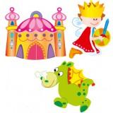 Nursery Series Τρία στοιχεία : Πρίγκιπας Λόλος 670 x 475 χιλ. / Παλάτι 545 x 470 χ&iot