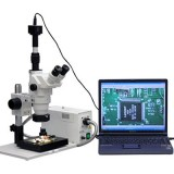 Microscope Stereo 3.35-180X Zoom w/10MP Cam, f/o Ring
