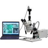 Microscope Stereo 2X-225X Large Stand w/3MP Cam