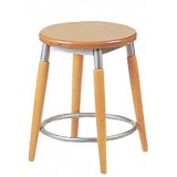 RICN Series Stool Wood-Metal Low