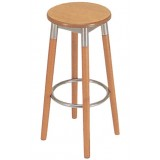 RICN Series Stool Wood-Metal High