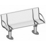 S-ER Series Intersit with backrest - Wire Mesh 3 seater