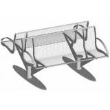 S-ER Series Intersit with backrest - Wire Mesh 3+3 seater