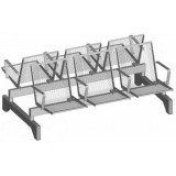 S-ER Series Topsit Wire Mesh 3+3 seater