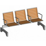 S-ER Series Topsit Pagwood 3 seater