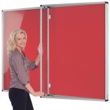 Wall mounted non illuminated Tamperproof Noticeboard 1800x1200H (2 door)