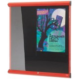 Wall mounted non illuminated showcase with lift off cover 491x735H